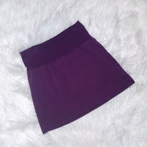 American Apparel Purple Mini-skirt